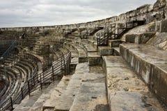 Roman Ruin in Nîmes Stock Photo