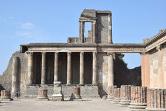Roman ruin in Pompeii, Italy. On a sunny day Stock Image