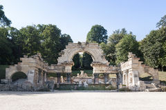 Roman ruin in the Schonbrunn gardens. Vienna. Royalty Free Stock Image