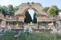Roman ruin in the Schonbrunn gardens. Vienna. Stock Image
