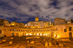 Roman ruines during evening Royalty Free Stock Images