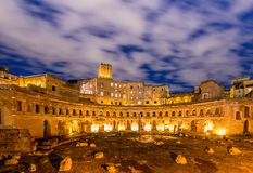 Roman ruines during evening hours Royalty Free Stock Photography