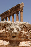 Roman ruins. The ruins of the Roman temple of Jupiter, in Baalbek, Lebanon Royalty Free Stock Images