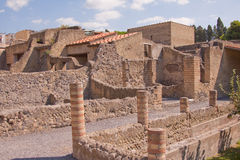 Roman Ruins. The ancient ruins at Herculaneum on the Bay of Naples, Italy Stock Photos