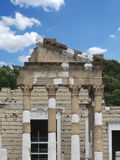 Roman ruins. Old roman ruins and sky background Royalty Free Stock Photos