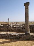 Roman Ruins. Ruins of the Roman city of Numantia, located in the province of Soria (Spain Stock Photo
