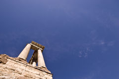Roman Ruins. In the Forum in Rome Royalty Free Stock Image