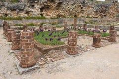 Roman ruins of the ancient city of Conimbriga, Stock Image