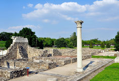 Roman ruins in Aquincum Stock Photography