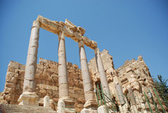Roman ruins bacchus temple Royalty Free Stock Photo