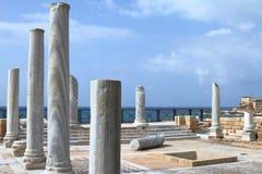 Roman Ruins - Caesarea - Israël stock foto