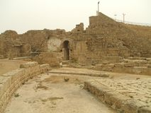 Roman ruins, Caesarea, Israel, Middle East Royalty Free Stock Image