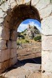 Roman ruins of a castle Kastabala Hieropolis, Turkey Royalty Free Stock Images