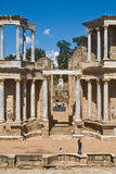 Roman ruins. Central sight of the Roman theater of merida Stock Photo