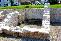 Roman ruins in the centre of fortress Alba Iulia, Transylvania Stock Photos