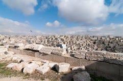 Roman Ruins of the Citadel - Amman, Jordan Stock Images