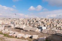 Roman Ruins of the Citadel - Amman, Jordan Royalty Free Stock Photography