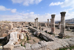 Roman Ruins of the Citadel - Amman, Jordan Stock Photo