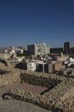 Roman ruins and city Cartagena,Spain Stock Image