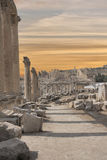 Roman ruins in the city of Jarash (Jordan) Royalty Free Stock Photography