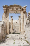 Roman ruins in the city of Jarash (Jordan) Stock Photo