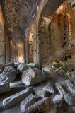 Roman Ruins in the Coliseum Stock Photography