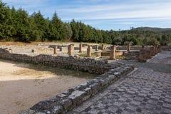 Roman ruins in Conímbriga. Archeological remains of Roman city of Conímbriga in Portugal Stock Photos