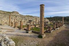Roman ruins in Conímbriga. Archeological remains of Roman city of Conímbriga in Portugal Stock Photo