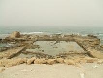 Roman ruins. concrete bath, Caesarea, Israel, Middle East Stock Photo