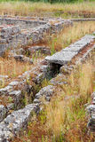 Roman ruins of Conimbriga. Detail of the roman sewer system near the Insulae zone of Conimbriga Stock Photo