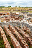Roman ruins of Conimbriga. Hypocaust structure used to heat the Baths water of the Cantaber Domus House Stock Photo