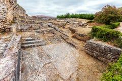 Roman ruins of Conimbriga. The Natatio area of the Roman Baths of the Wall. Stock Photo