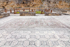 Roman ruins of Conimbriga. Swastikas decorating the Roman mosaics. Stock Photography