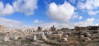 Roman Ruins de la citadelle - Amman, Jordanie Image stock