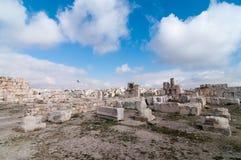 Roman Ruins de la citadelle - Amman, Jordanie Photo stock