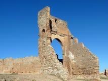 Roman Ruins de Volubilis, en dehors de la ville marocaine de Fes Image libre de droits