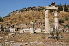 Roman ruins in Ephesus Turkey Stock Images