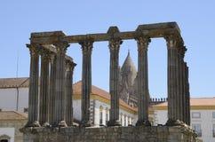 Roman ruins in Evora Stock Image
