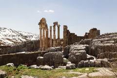 The Roman Ruins at Faqra, Lebanon Stock Photography