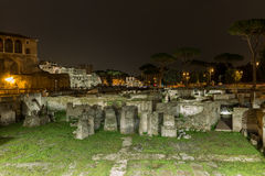 Roman ruins of Foro Traiano in Rome, Italy Royalty Free Stock Images