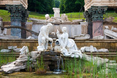 Roman Ruins fountain, Schonbrunn, Vienna. Stock Image