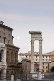 Roman ruins with full moon. Stock Photography