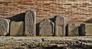 Roman ruins funerary estels Stock Photo