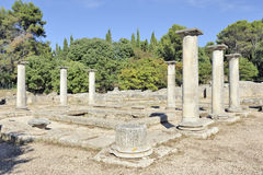 Roman ruins at Glanum in Provence, France Stock Photo