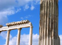 The Roman ruins of Hierapolis in Turkey Royalty Free Stock Photo