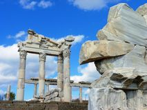 The Roman ruins of Hierapolis in Turkey Stock Photography