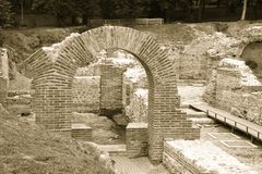 Roman ruins in Hisar Royalty Free Stock Photo
