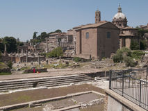 Roman ruins. A historic building with Roman ruins Stock Photo