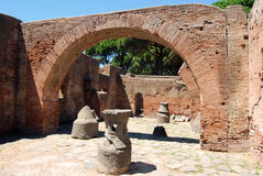 Roman ruins - Homes and shops Stock Photography