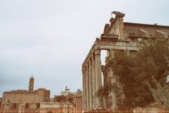 Roman Ruins i Italien i gammal stil Royaltyfri Fotografi